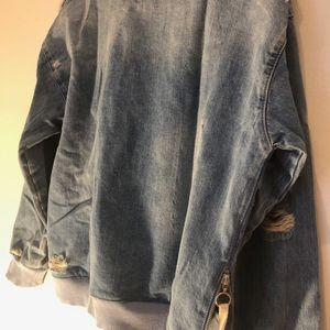 Zara Sweaters - Zara Denim Crew Neck Pullover Size Small